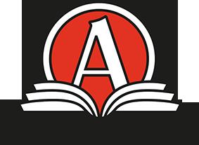 Akademibokhandeln Stora, övre plan logotyp